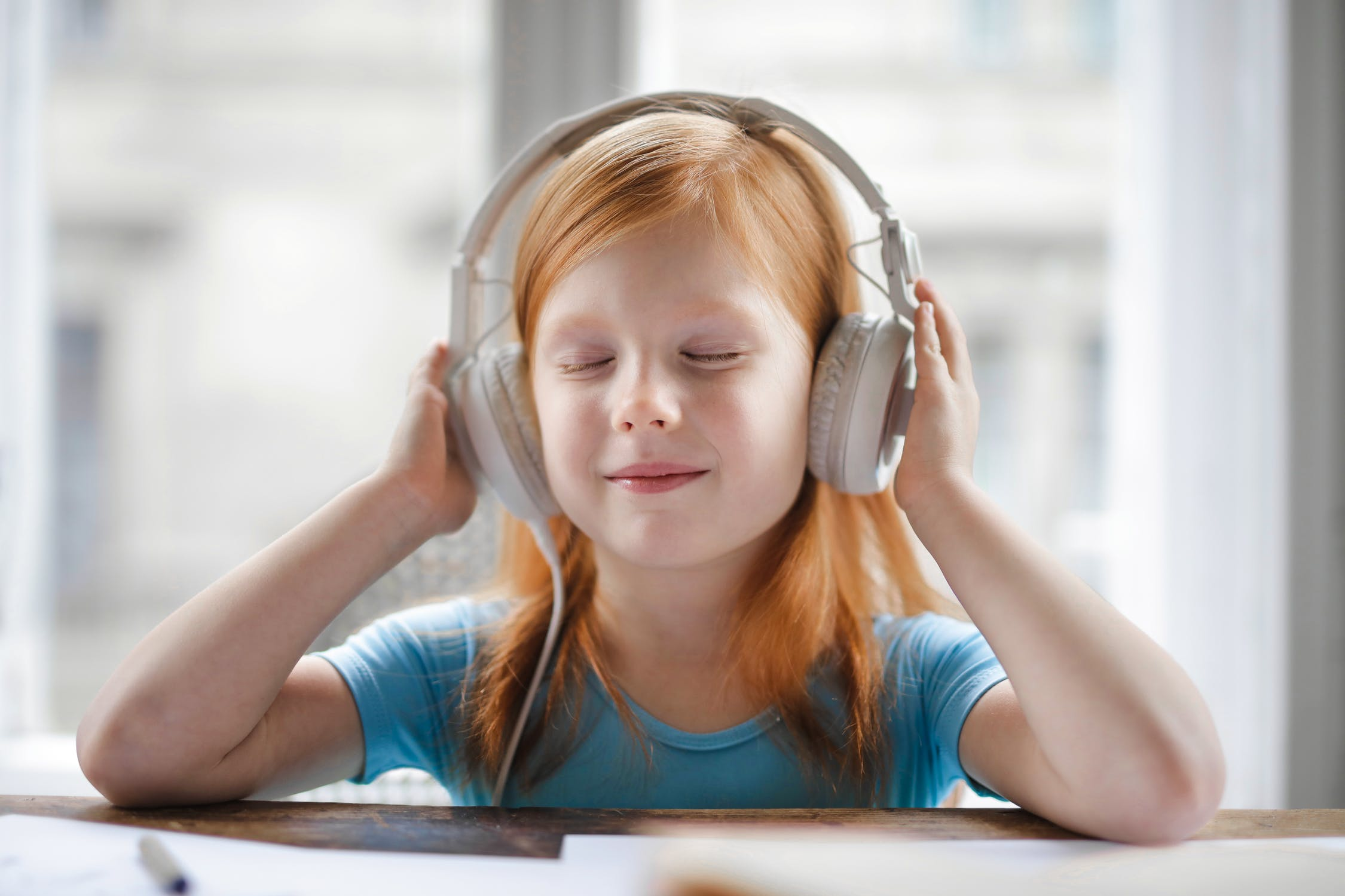 Kid with headphones